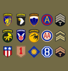 airborne air force and army patches vector image vector image