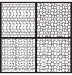 Black and white patterns vector image vector image