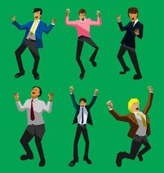 Businessman happy vector image vector image