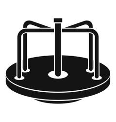 Children merry go round icon simple style vector