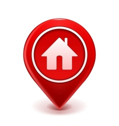 Home Icon Pin vector image