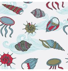 Sea fauna Seamless background vector image vector image