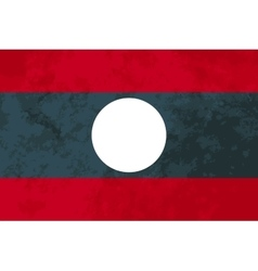 True proportions Laos flag with texture vector image