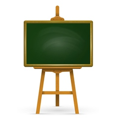 Wooden easel with school board vector image vector image