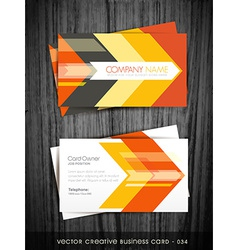 arrow business card vector image vector image