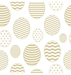 Golden seamless pattern with Easter eggs vector image vector image