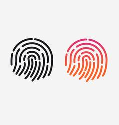 id app icon set fingerprint for vector image