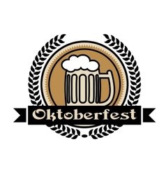 Oktoberfest beer icon or label vector image vector image