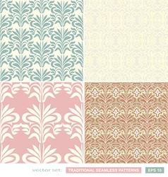 Vintage ornamental backgrounds set wedding style vector image vector image