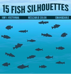 15 fis silhouettes vector
