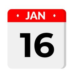 16 january calendar icon vector
