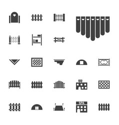 22 country icons vector