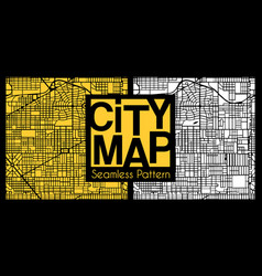 abstract seamless city plan vector image
