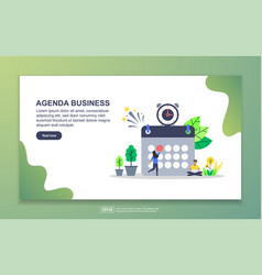 Agenda business concept with tiny people vector