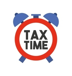 Alarm clock tax time isolated icon vector