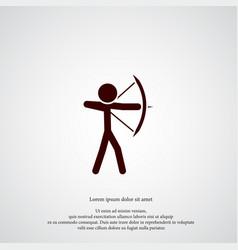 archer icon simple sportsman element game symbol vector image