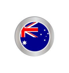 Australian flag with a commonwealth stars vector