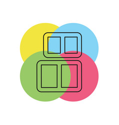 box baggage luggage container line icon vector image