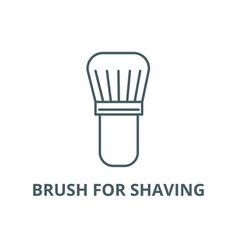 brush for shaving line icon brush for vector image