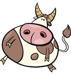 cartoon of taurus zodiac sign vector image