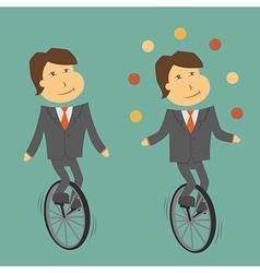 Clerk unicycle vector