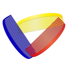 Colorful combs vector
