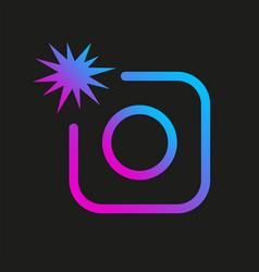 colorful image icon photo digital camera vector image