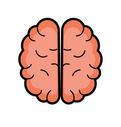 Creative brain with idea over white background vector