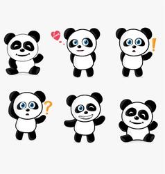 Cute Panda Mascot vector