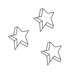 cute stars colors icons vector image