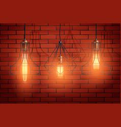 Decorative edison light bulb wire shade vector