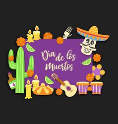 dia de los muertosday deadmexicanmexican vector image