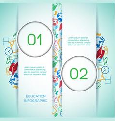 educational school infographics vector image