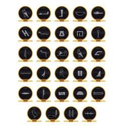 egyptian hieroglyphs vector image