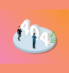 error 404 page not found website with isometric vector image