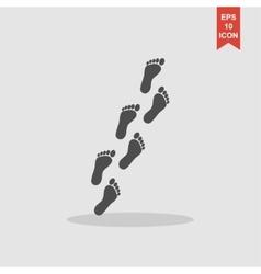 Feet prints Flat vector