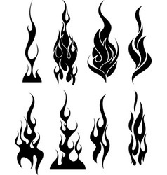 flames tribal vector image