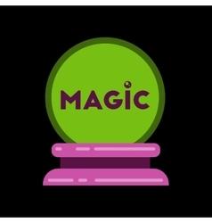 Flat icon on stylish background magic ball vector