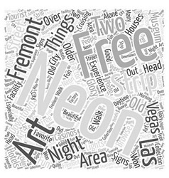 Free Things to do in Las Vegas Word Cloud Concept vector image