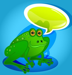 Frog with speech bubble vector