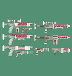 futuristic sci-fi weapons vector image