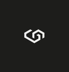 geometric heart logotype love home logo vector image