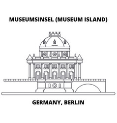 germany berlin museum island line icon concept vector image