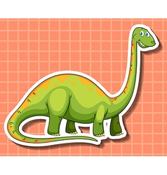 Green dinosaur with long neck vector