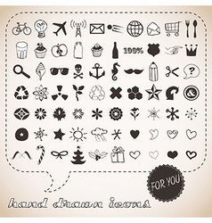 Hand drawn icons set for You vector