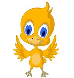 Happy yellow chick cartoon vector