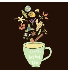 Herbal tea dark bc vector