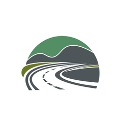 Highway or road disappearing near mountains vector image