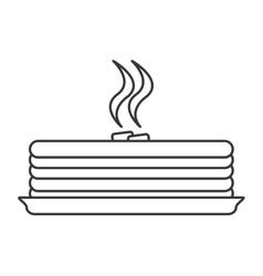 Hot cake bakery design vector