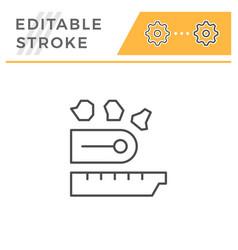 industrial conveyor line icon vector image